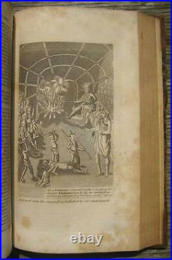 1837 Indian Native American Biography History War Massacres Antique Rare Leather