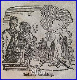 1850 INDIANS OF AMERICA Rare MINIATURE BOOK New England OLD WEST Indian WAR