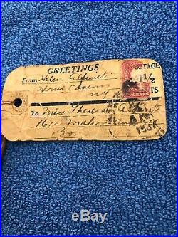 1887 NATIVE AMERICAN HAUDENOSAUNEE / IROQUOIS INDIAN DOLL SOUVENIR With STAMP RARE