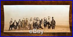 1910's CALIFORNIA NATIVE AMERICAN CHIEFS UNITE EXTREMELY RARE VINTAGE PHOTO