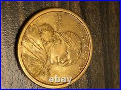 2000 p rare sacagawea cherios gold dollar