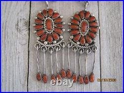 Alice Quam Coral Earrings, Rare