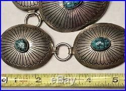 Amazing Rare Orville Tsinnie Sterling HI Grade Turquoise Concho Belt 347GR $5000