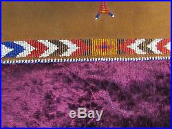 Antique Native American Beaded Book Cover (journal, diary sketching) Very Rare