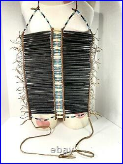Authentic Native American Hand-Crafted Traditional Beaded Breastplate RARE
