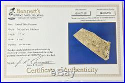 Certified Chumash Rare Engraved Stone Tablet, California Bennett COA