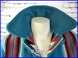 Chimayo Jacket All Wool Hand Woven Southwestern Native Indian Rare Julius Gans