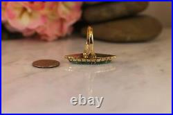 DV Eriacho Solid 14K Yellow Gold & Turquoise Ring size 8 Ed RARE Navajo Marquise