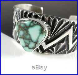 Damele Navajo Bracelet Sterling Silver Rare Handmade Tufa Cast By Kevin Yazzie