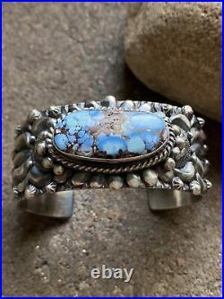 Darryl Becenti Sterling Silver Golden Hill Turquoise Cuff Bracelet. Navajo. Rare