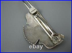 Early Navajo Signed Sterling Tommy Singer Hair Clip 3 Inches 32 Grams Rare