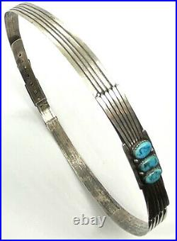 Early Rare Native American Sterling Silver 925 Turquoise Long Hat Band 84.14g