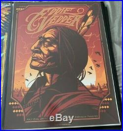 Eddie Vedder Minneapolis Munk One Poster 2011 Rare Native American