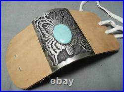 Extremely Rare Butterfly Vintage Navajo Turquoise Sterling Silver Ketoh Bracelet