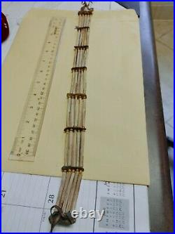 Handmade Native American Rare Antique Bone Bird Bead Choker Oklahoma Hairpipe