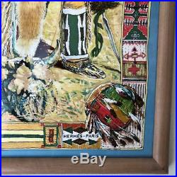 Hermes Scarf Paris Native American Accessory Rare Collectible Women Ladies