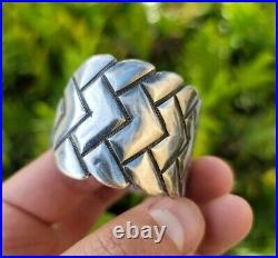 Ike Wilson Navajo Silver Cuff Rare Vintage 66 Grams