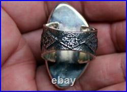 Kevin Yazzie Navajo Handmade Sterling Silver & RARE No. 8 Turquoise Stone Ring