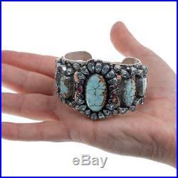LEO FEENEY Bracelet Turquoise RARE #8 Edgar Cabochon Gemstones Sterling Silver