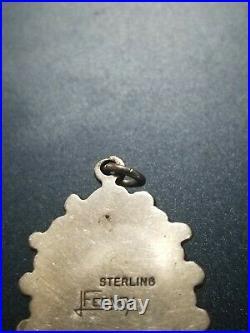 LEO FEENEY Navajo Rare Pendant Sterling Turquoise Topaz Amethyst BEAUTIFUL