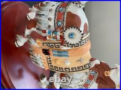 Lenox Carousel Horse Pinto Indian Wedding Native American Horse Rare