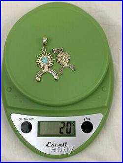 Limit RARE Native American Navajo 2 Sterling Pendant Ray Tracey Smithsonian NMAI