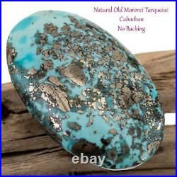 MORENCI Turquoise Cabochon Cab RARE 116.8ct OLD HOARD NATURAL Silver PYRITE