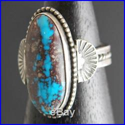 Natural RARE VERY Collectible AZ BISBEE Turquoise Sterling Silver RING Size 9.25
