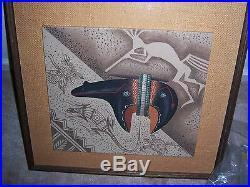 Navajo Eugene Joe Batsoslanii Original Sand Painting Native American 77 RARE VTG