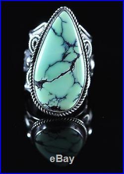 Navajo Sterling Silver Rare Gem Grade Nevada Prince Variscite Ring Andy Cadman
