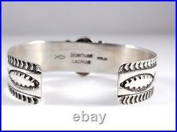 Navajo Sterling Silver Turquoise Bracelet Rare Webbed Hubei By Donovan Cadman