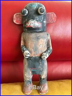 Neil David Sr Hopi Ogre Kachina Vintage Rare 1974 Bellyachers 9.5 Tall