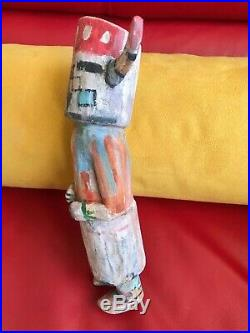 Neil David Sr Hopi Supai Kachina Vintage Rare 1975 Period Bellyachers 9.5 Tall