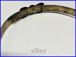 Old Navajo Sterling Silver Hat Band with turqouise stones in butterflies. Rare