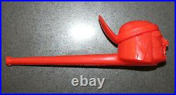 PEZ Peace Pipe Red Native American Indian No Feet Rare Vintage