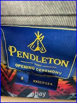 Pendleton Opening Ceremony Coat Womens Small Aztec Native American Rare Flare