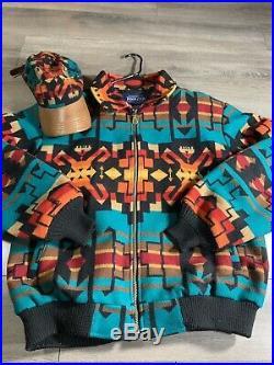 Pendleton The Cave Creek Pattern Western Wear Mens Coat Indian Blanket XL Rare