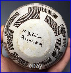 RARE Acoma Maria Z. Chino Handled Native American Pottery Pitcher Vessel