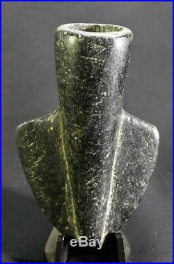 RARE Ancient Native American Shaman's Copperhead Snake Effigy Pipe withPetroglyphs