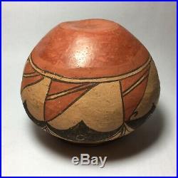 RARE & Fine Zia Antique Native American Pottery Jar Vessel Historic Artifact
