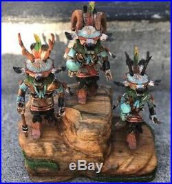 RARE! Hopi MILTON HOWARD KACHINA Katsina Doll CARVING Figurine Deer Sheep Jaclas