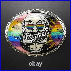 RARE Ltd Edition DAVID FREELAND Jerry Garcia GRATEFUL DEAD Opal Rainbow BUCKLE