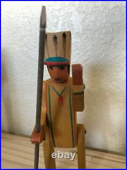 RARE Ostheimer Native American Indian Wooden Figure Toy