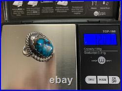 RARE Quartz inclusion HIGH GRADE BISBEE Turquoise Ring! Sz 7.5 COLLECTORS Piece