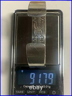 RARE VINTAGE AUTHENTIC DARIN BILL 925 STERLING SILVER 12K G CUFF BRACELET 91.79g