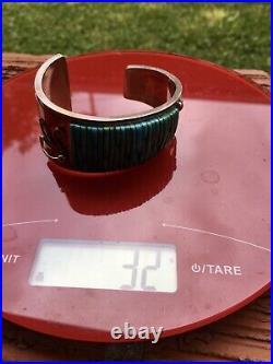 RAREPETE SIERRA COBBLESTONE -NATIVE AMERICAN /Navajo Turquoise Cuff /Bracelet