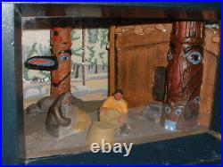 Rare 1930s WPA Museum Extension Project Diorama-Tlingit Weaving Baskets