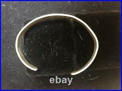 Rare 1980s Hopi Sterling Silver Cuff Bracelet Signed Kuwanhongva Native American