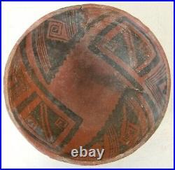 Rare Ancient Anasazi Native American Indian Bowl Black on Red Intact 7 1150 AD