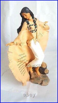 Rare Ashton Drake Native American Doll Following my Shepherd Lee Bogl Collection
